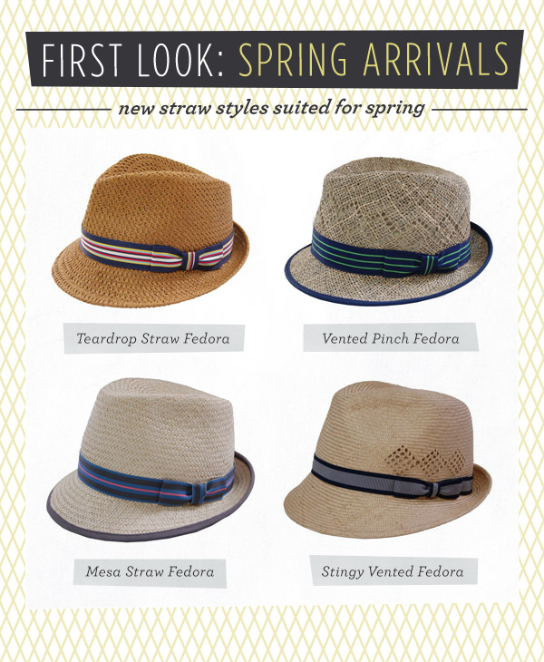 straw hats for spring