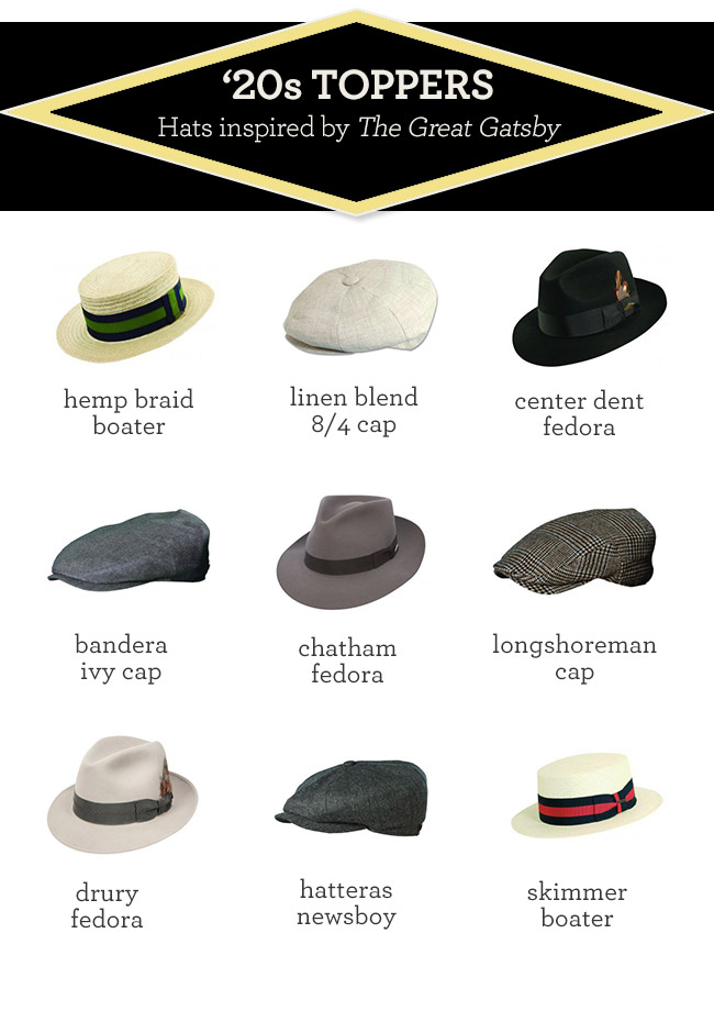 Great Gatsby hats