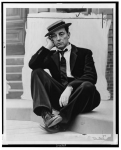 Buster Keaton wore his trademark pork pie fedora