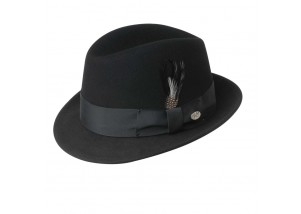 Bailey of Hollywood New Yorker Blues Brothers Wool Felt Fedora -  -
