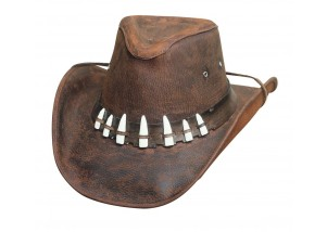 Bullhide Spiffy Leather Outback Cowboy Hat