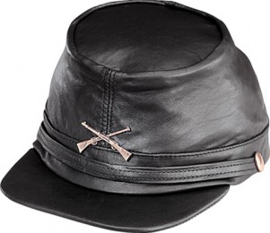 Henschel Soft Crushable Garment Leather Civil War Cap