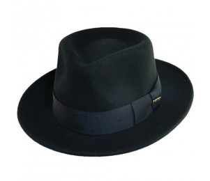 Scala Crushable Wool Felt Fedora Hat