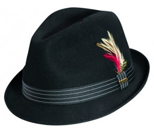Scala Classico Hand Made Crushable Stingy Brim Wool Felt Fedora Hat