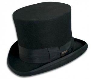 Scala Premium Wool Felt Mad Hatter Top Hat