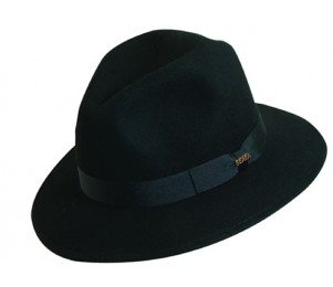 Scala Crushable Wool Fedora Dress Hat