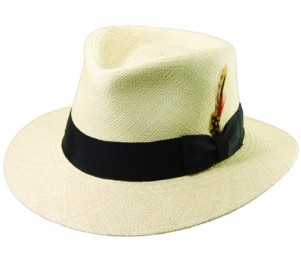 Scala Genuine Panama C Crown Fedora Hat