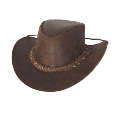 Bullhide Cedar Groove Leather Outback Hat