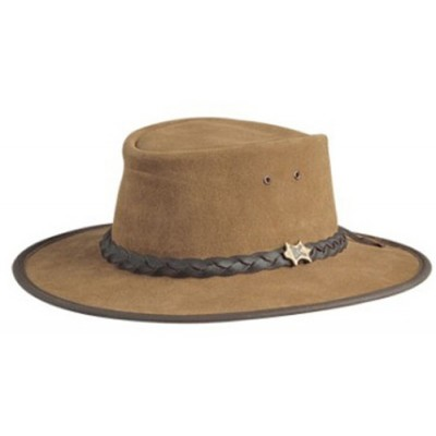 BC Hats Bush Walker Suede Leather Outback Hat