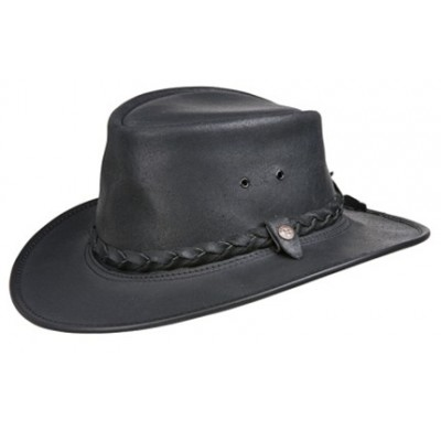 BC Hats Bac Pac Traveller Oily Leather Outback Hat