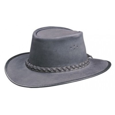 BC Hats Swagman Oily Leather Outback Hat