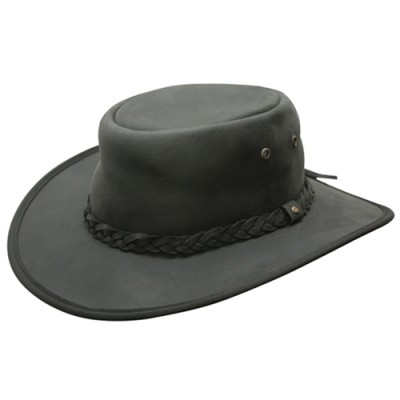 Conner Lone Wolf Leather Outback Hat