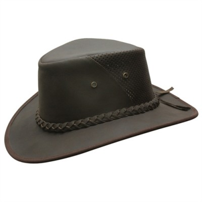 Conner Breezy Crushable Leather Outback hat
