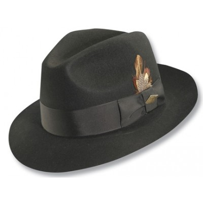 Stacy Adams Premium Wool Center Dent Fedora