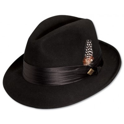 Stacy Adams Premium Wool Felt Center Dent Hat