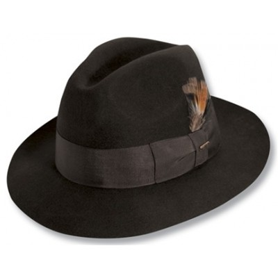 Scala Premium Wool Felt Center Dent Fedora Hat
