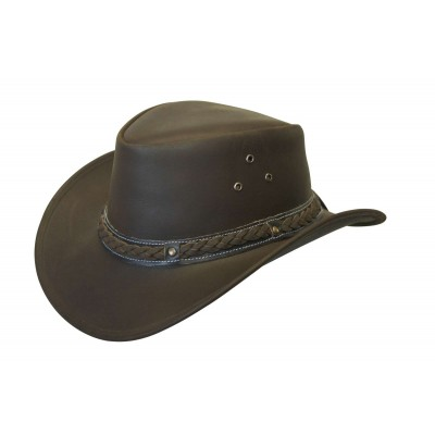 Conner Down Under Leather Outback Hat