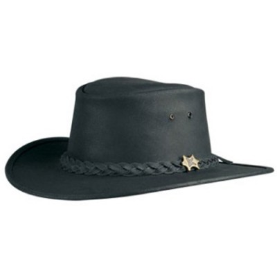 BC Hats Bush Walker Oily Leather Outback Hat