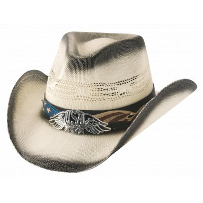 Bullhide Team USA Bangora Straw Cowboy Hat