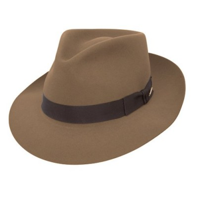 Stetson Chatham Teardrop Crown Fedora - Tawny Brown - 6 3/4 (S)