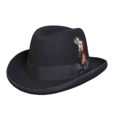 Conner Mr. Homburg Australian Wool Gangster Fedora Hat