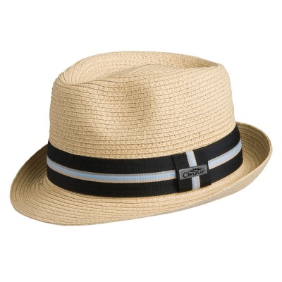 Conner Spencer Sewn Braid Toyo Stingy Brim Fedora Hat