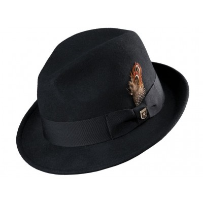 Stacy Adams Chelsea Wool Felt Stingy Brim Fedora