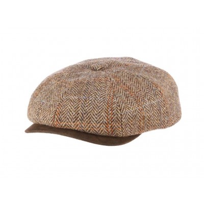 Stetson Chadwick Harris Tweed Wool Newsboy