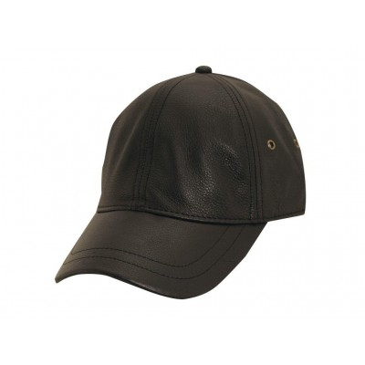 Stetson Peyton Unstructured Oily Timber Leather Baseball Cap