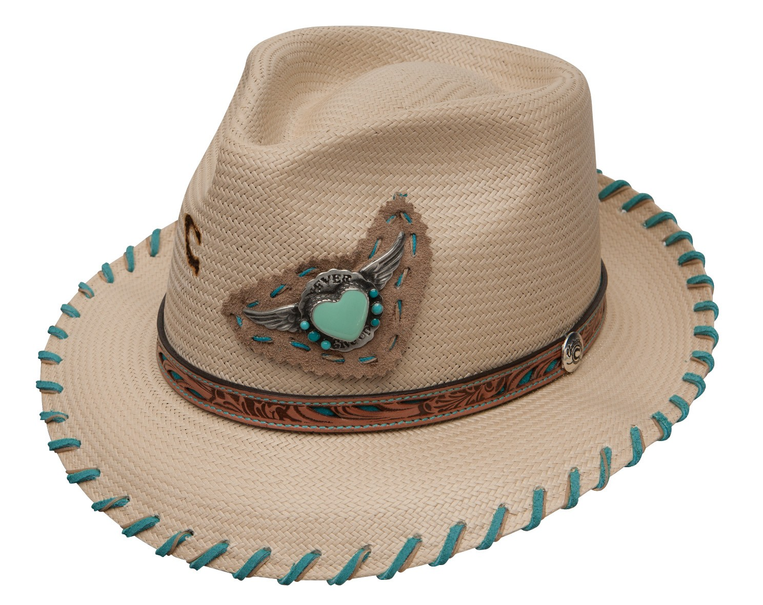 Charlie 1 Horse Never Give Up Women s Straw Fedora 9511ca41450