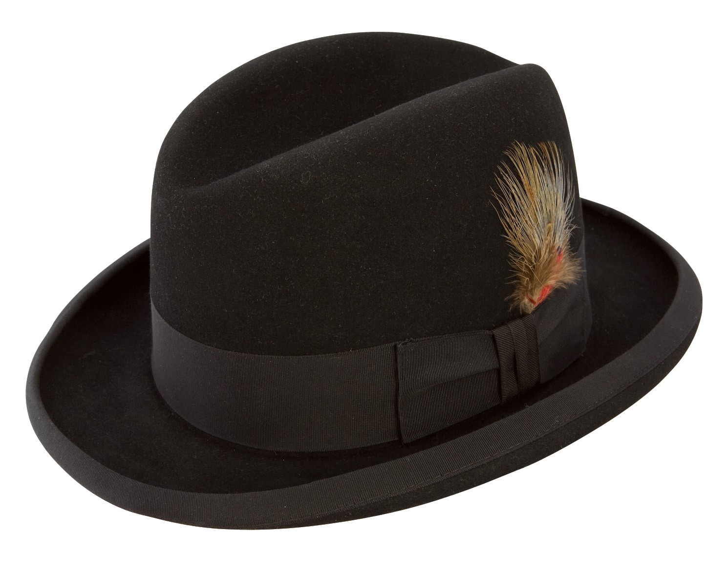 97d81e756e030 Don t let the name of this Stetson Homburg Godfather Hat fool you. This hat  was worn for years before it was adopted by mobsters like Don Corleone.