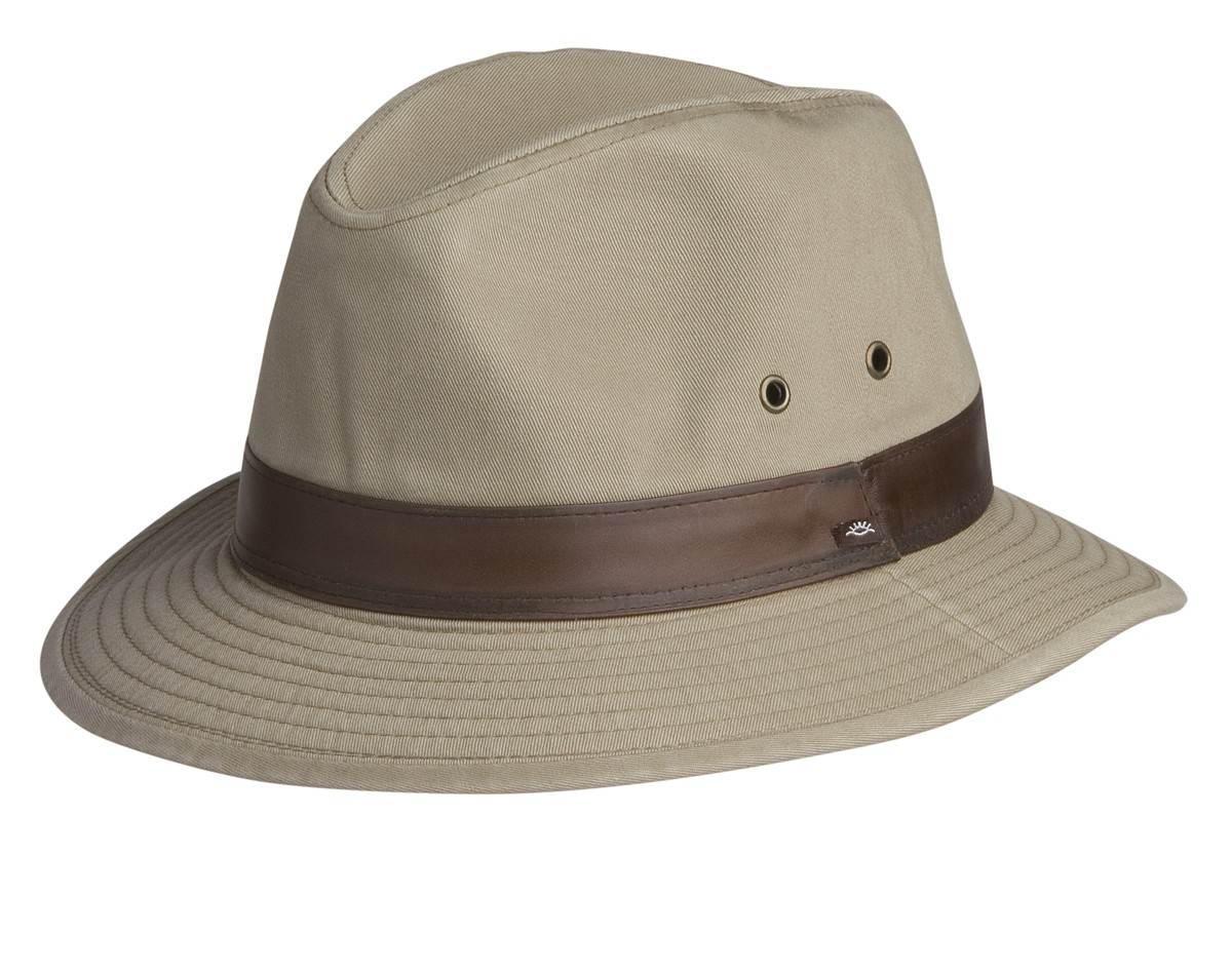 Conner Larimer Mens Cotton Safari Fedora Hat 4b4cee41231