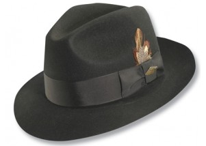 Stacy Adams Cleveland Premium Wool Center Dent Fedora