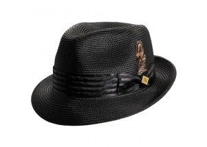 Stacy Adams Polybraid Pinch Front Fedora