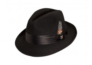 Stacy Adams Newark Premium Wool Felt Center Dent Hat