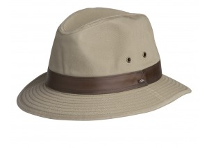 Conner Larimer Mens Cotton Safari Fedora Hat