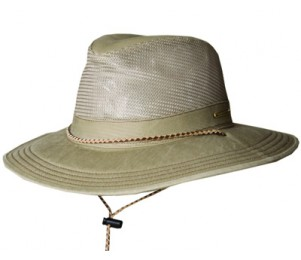 Stetson Springfield Twill Outback Hat - Khaki - M