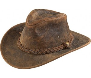 Henschel Crushable Leather Outback Hat