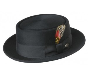 Bailey of Hollywood Wool Jett Porkpie - Black - 7 (M)