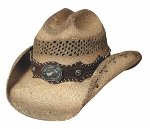 Bullhide Ride 'Em Genuine Panama Straw Cowboy Hat