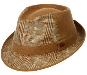 Bailey of Hollywood Wool Whitledge Fedora Hat - Camel - L
