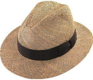 Henschel Seagrass Straw Safari Fedora Hat
