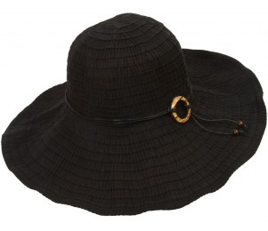 Long Beach Ribbon Braid Crushable Sun Hat