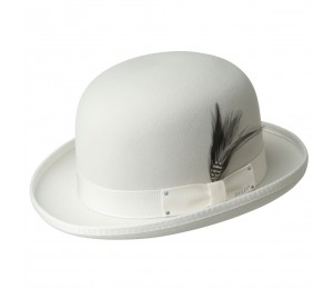 Bailey of Hollywood Derby Wool Bowler - White - M