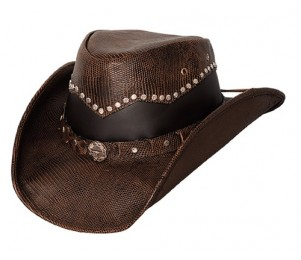 Bullhide Bonfire Leather Outback Hat