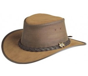 BC Hats Cool as a Breeze Leather Outback Hat