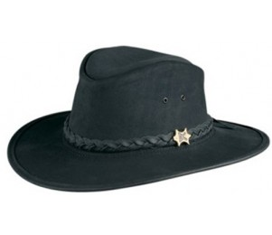 BC Hats Bush & City Shapeable Leather Outback Hat