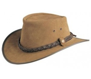 BC Hats Bac Pac Traveller Suede Leather Outback Hat