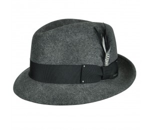Bailey of Hollywood Tino Fedora Hat - Black Mix - XL