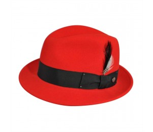 Bailey of Hollywood Tino Crushable Fedora - Red - XXL